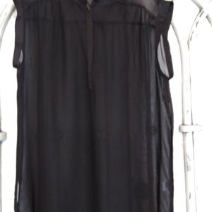 Ana black sleeveless blouse